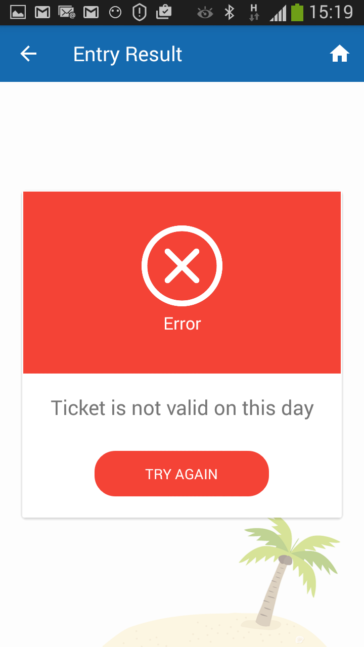 ticket not valid for event entry screenshot