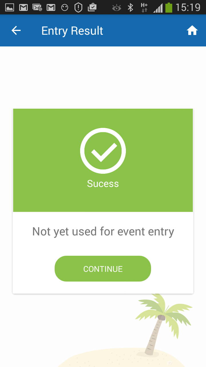 ticket valid for event entry screenshot
