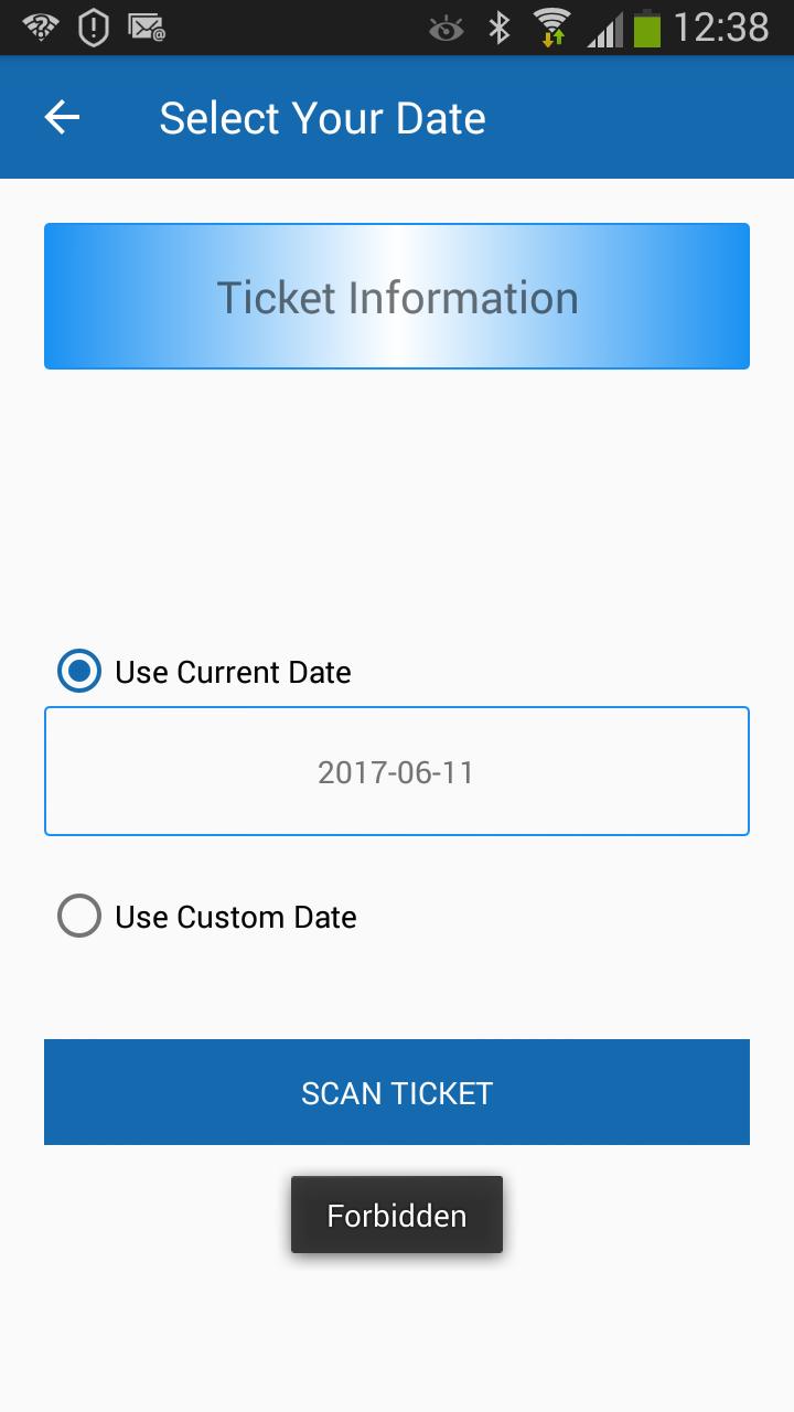 Smart phone ticket scanning forbidden