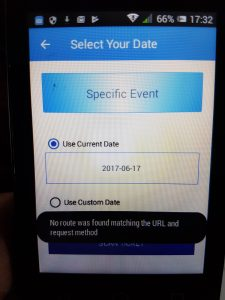 smart phone ticket scanning route error